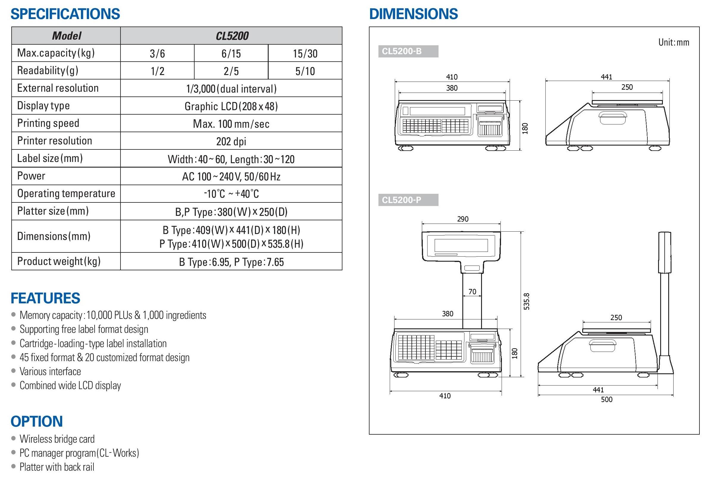 CAS_CL5200-15 P desc